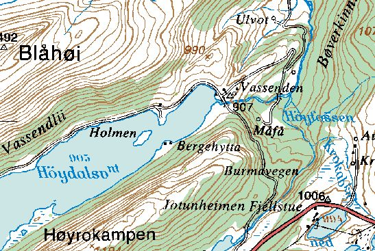 bøverdalen kart Botanikk.no: Floraen i Bøverdalen bøverdalen kart
