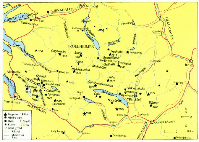 kart over trollheimen Trollheimen verneområde kart over trollheimen